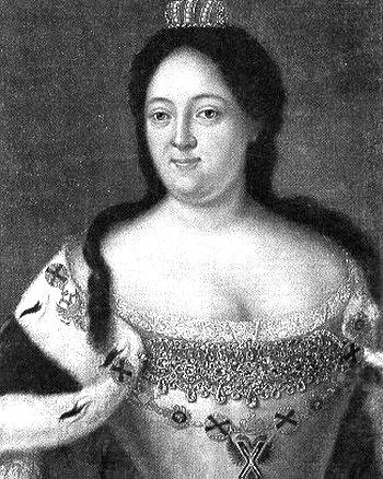 Анна Иоанновна, одна из пяти дочерей царя Ивана V, сводного старшего брата Петра I