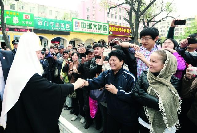 Патриарх Кирилл в Китае