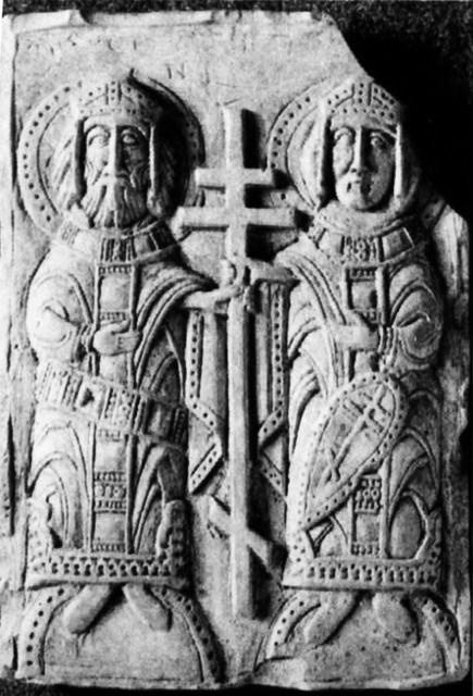 Святые равноапостольные Константин и Елена,  XII век, Полоцк