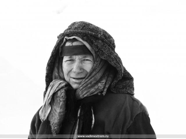 На фото А. Лыкова – последняя из рода Лыковых (младшая в семье), родилась в тайге 15-апреля 1945-года.