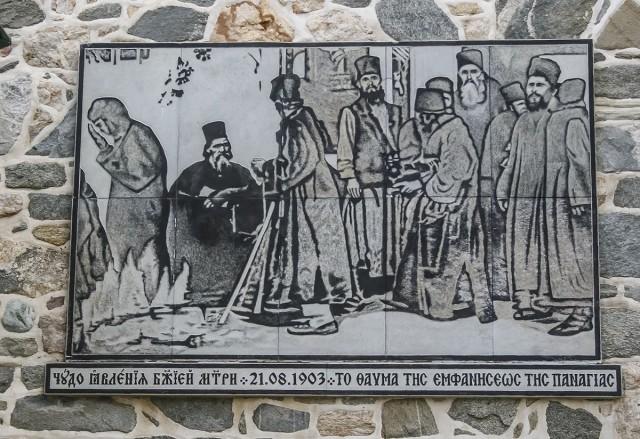 Икона Божией Матери Светописанная - напоминание монахам и паломникам о чуде, произошедшем в XIX веке